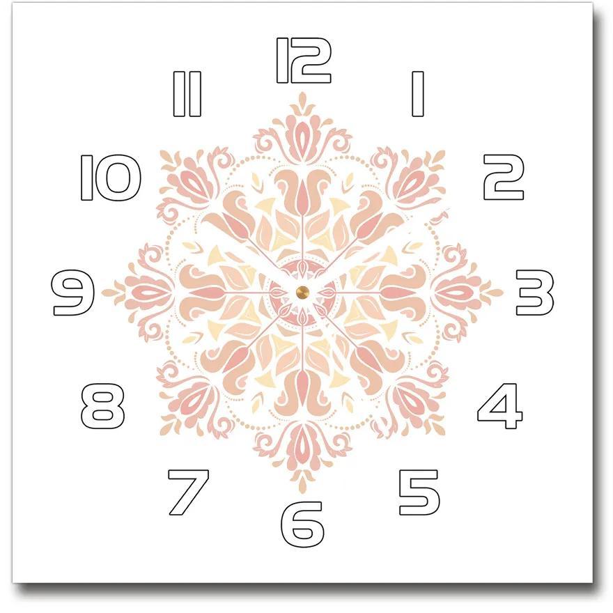 Sklenené hodiny na stenu Ornamenty pl_zsk_30x30_f_78023006