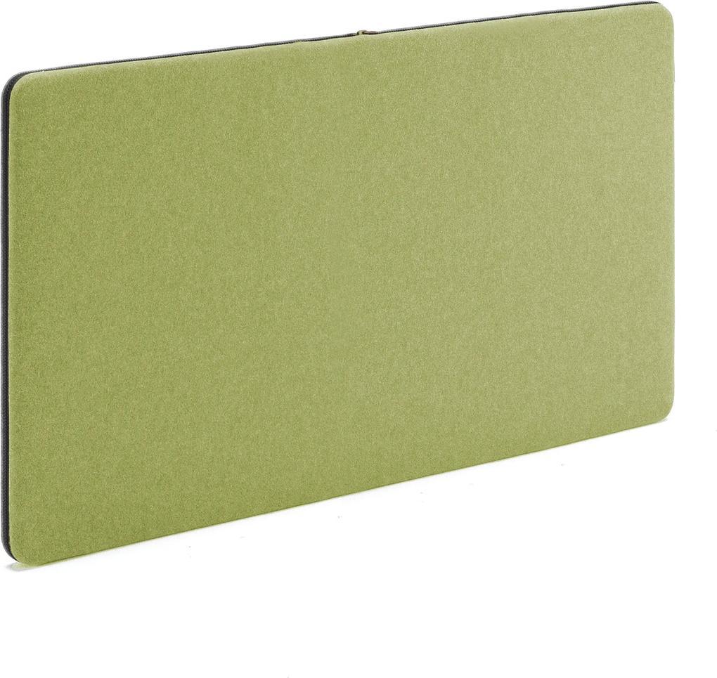 Akustický nástenný panel / nástenka Zip, 1200x650 mm, zelená