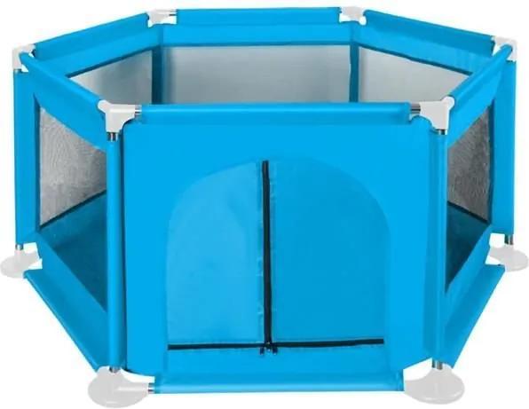 ISO Textilné ohrádka pre deti 115 x 65 cm, modrá, 8492