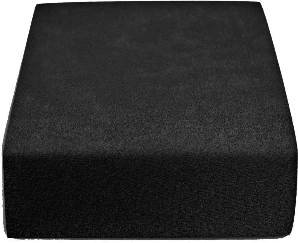 Froté plachta černá 140x200 cm