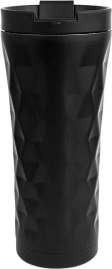Nerezový termohrnček - čierny