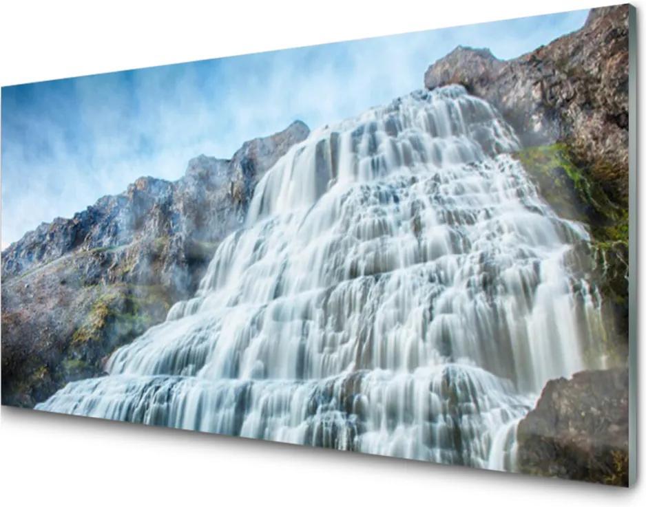 Obraz na skle Sklenený Vodopád Príroda