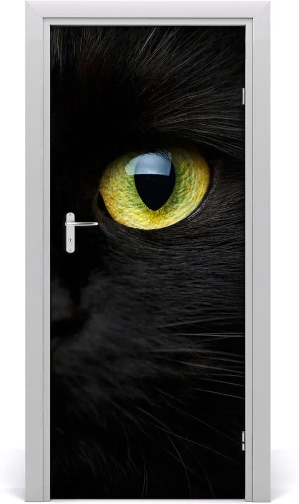 Samolepící fototapeta na dveře Oči kočky
