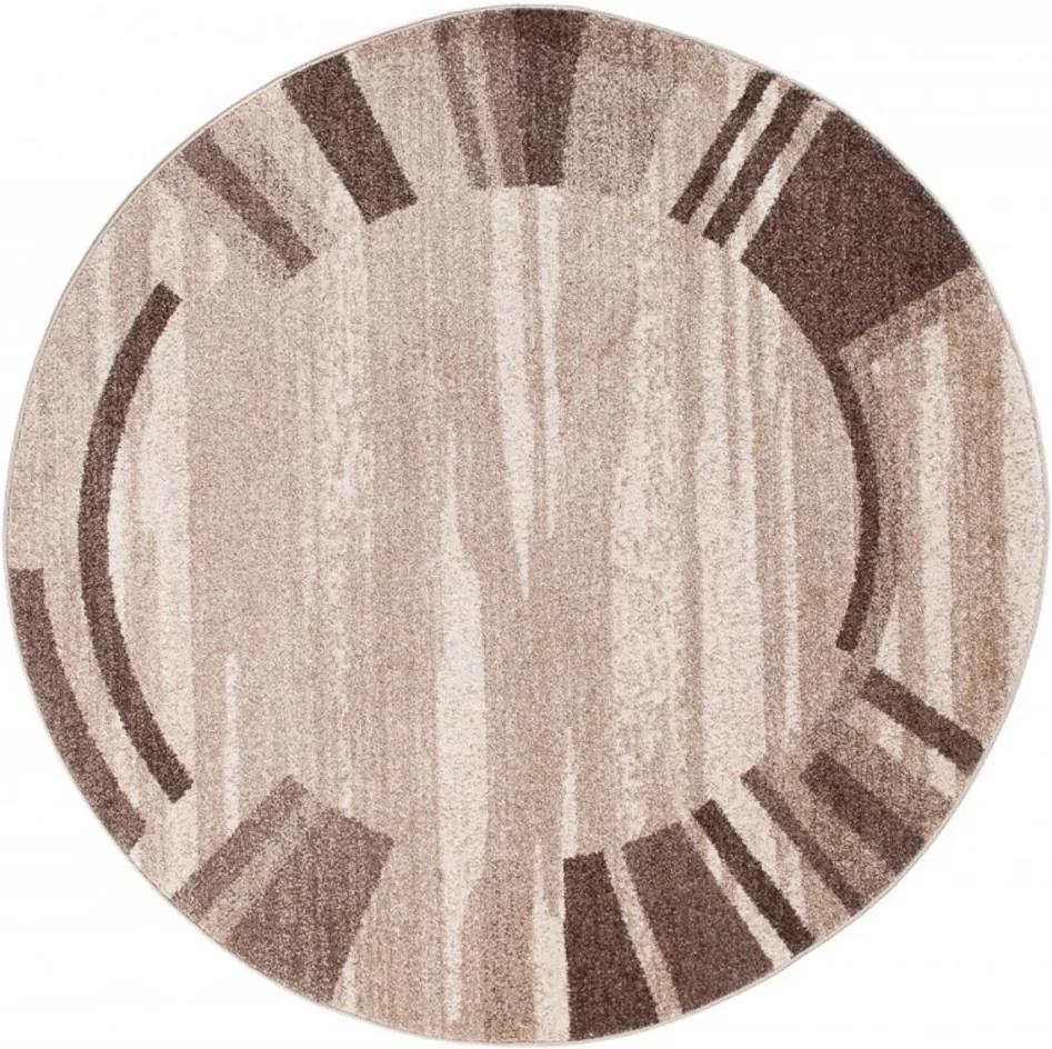 Kusový koberec France béžový kruh 100x100, Velikosti 100x100cm