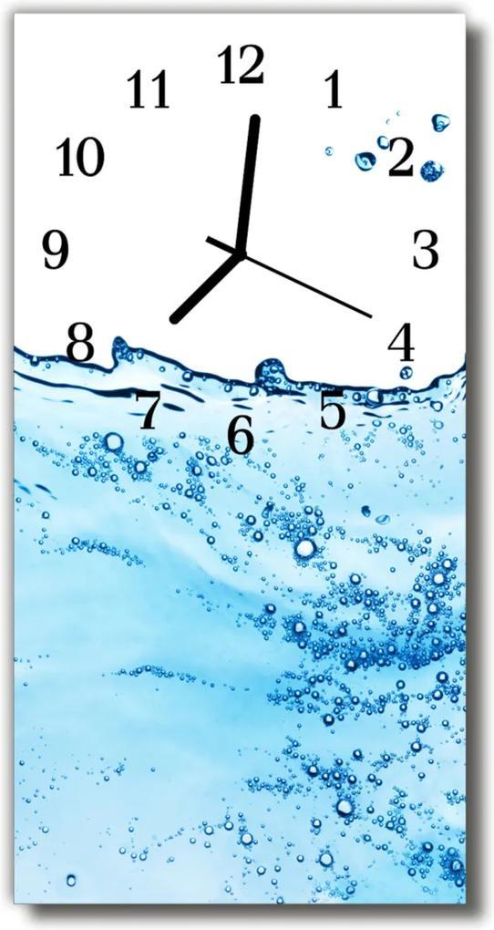 Skleněné hodiny vertikální Příroda Vodní barevné bubliny