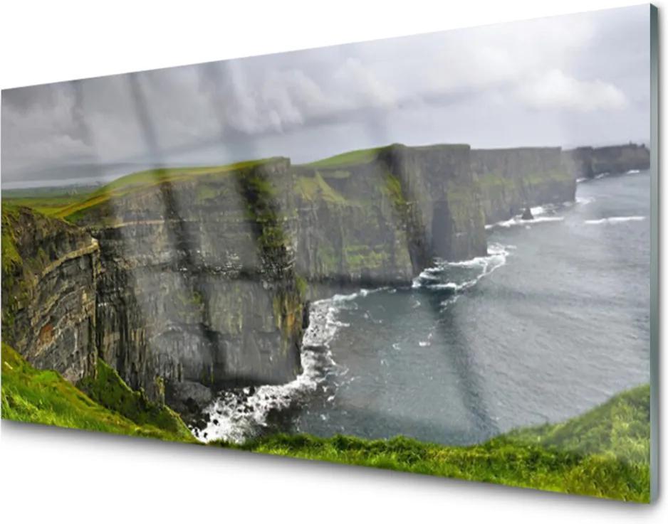 Plexisklo obraz Záliv skály voda krajina