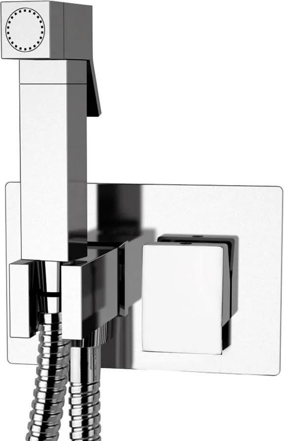 SAPHO Latus podomietková batéria s bidetovou spŕškou, hranatá, chróm 1102-07