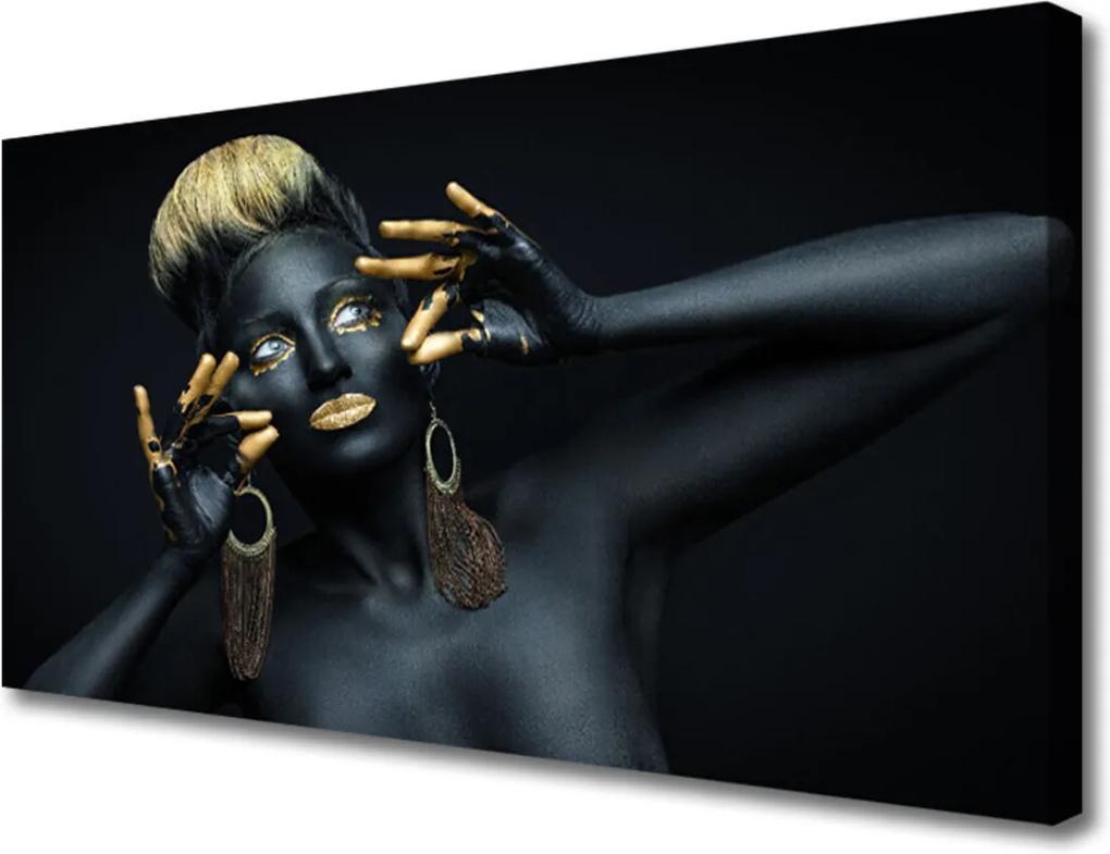 Obraz Canvas Žena barva člověk