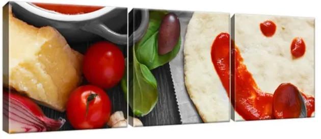 Obraz na plátne Príprava chutnej pizze 90x30cm 1384A_3A