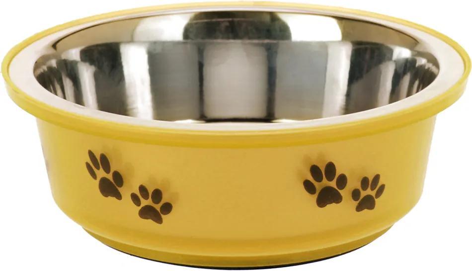 Miska pre psa žltá, 300 ml