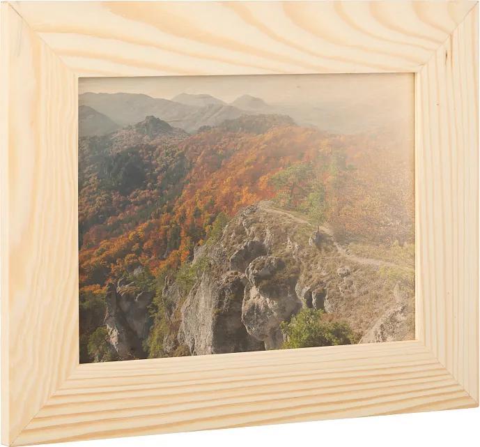 Drevobox Drevený fotorámik na stenu 29 x 23 cm