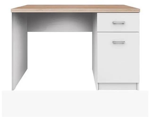 TEMPO KONDELA Topty Typ 9 pc stolík biela / dub sonoma