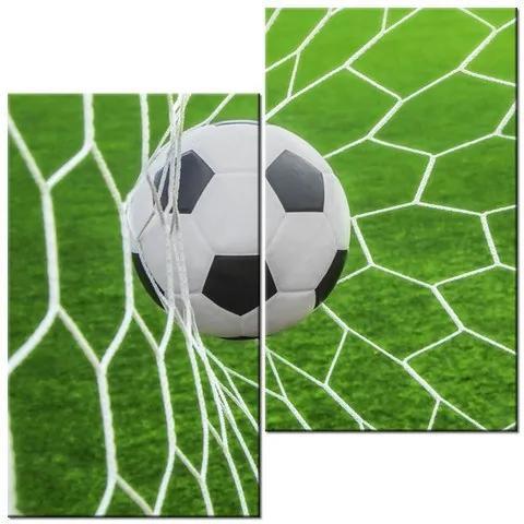 Tlačený obraz Futbalová lopta v bráne 60x60cm 3872A_2J