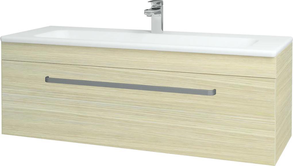 Dřevojas - Koupelnová skříň ASTON SZZ 120 - D04 Dub / Úchytka T01 / D04 Dub (131470A)