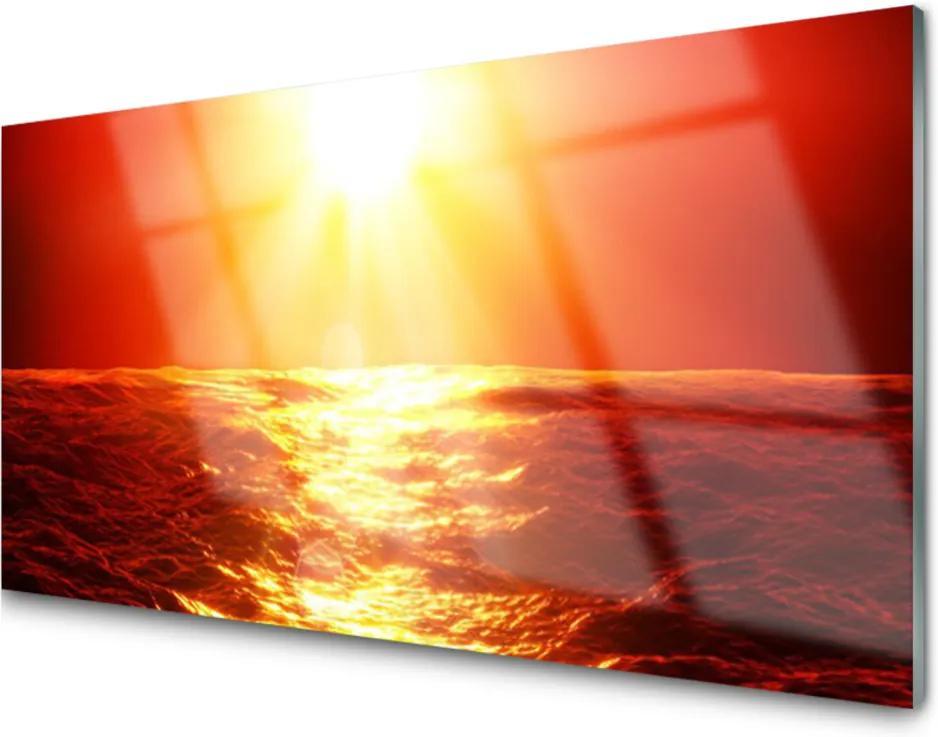 Obraz plexi Západ Slnka More Vlna