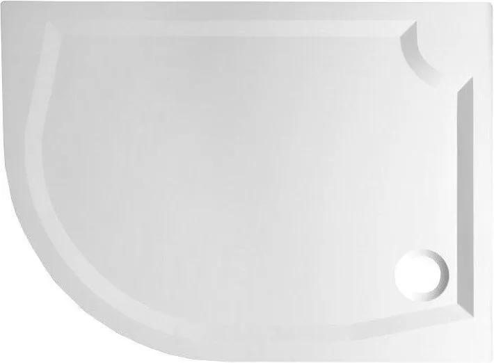 GELCO - RIVA sprchová vanička z liateho mramoru, štvrťkruh 100x80cm, pravý (GR10080R)