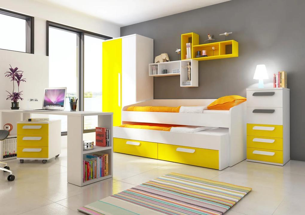 a32d5c2e1dfe Detská izba s prístelkou B - žltá - Detská posteľ s prístelkou B ...