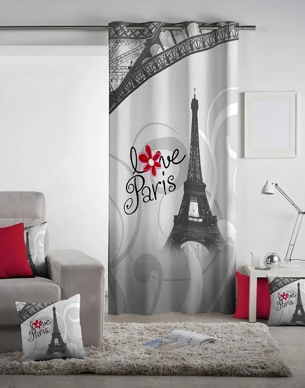 Dekoračný záves Love Paris 140x260 cm