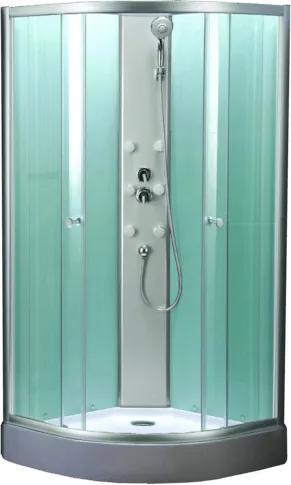 Sprchový box Multi Mbox štvrťkruh 90 cm, R 550, sklo číre, chróm profil MBOX