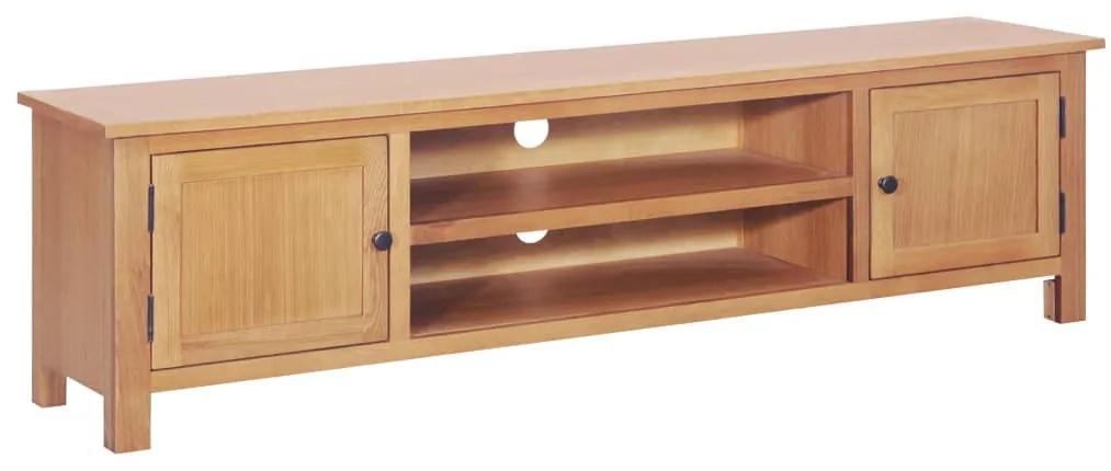 vidaXL TV skrinka 165x36x46 cm masívne dubové drevo