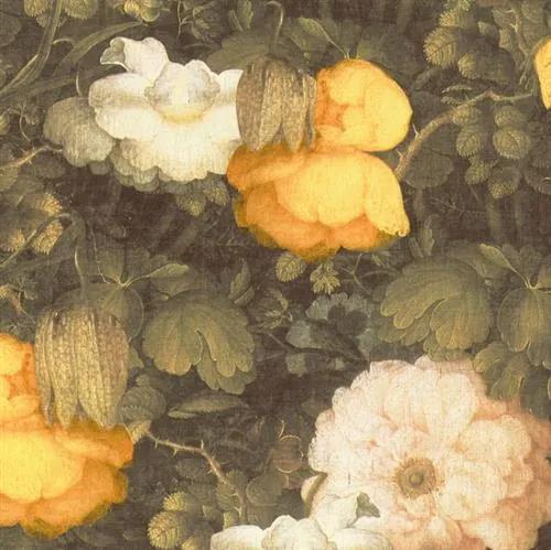 Vliesové tapety na stenu Metropolitan Stories 36921-1, rozmer 10,05 m x 0,53 m, florálny vzor žlto-čierny, A.S.Création