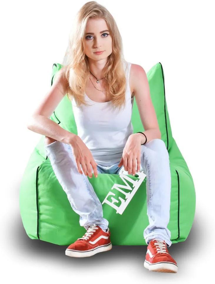 EMI Sedací vak stolička nylonová zelená 250 litrov
