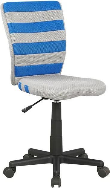 MAXMAX Detská otočná stolička FUEGO modrošedá