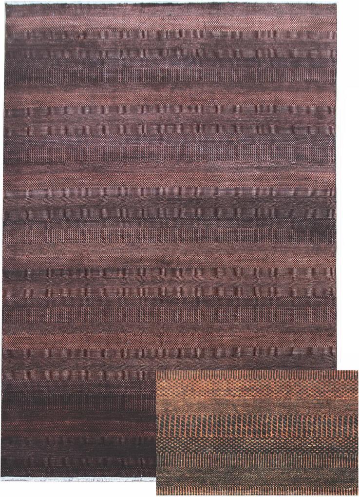 Diamond Carpets koberce Ručně vázaný kusový koberec Diamond DC-MCN Black/rust - 365x550 cm