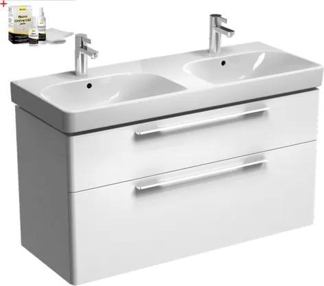 Kúpeľňová skrinka s umývadlom Kolo Kolo 120x71 cm biela lesk SIKONKOT2120BL