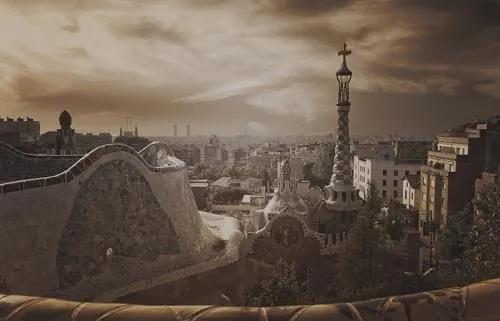 Luxusné vliesové fototapety, rozmer 418,5 cm x 270 cm, Barcelona, P+S International CL07C