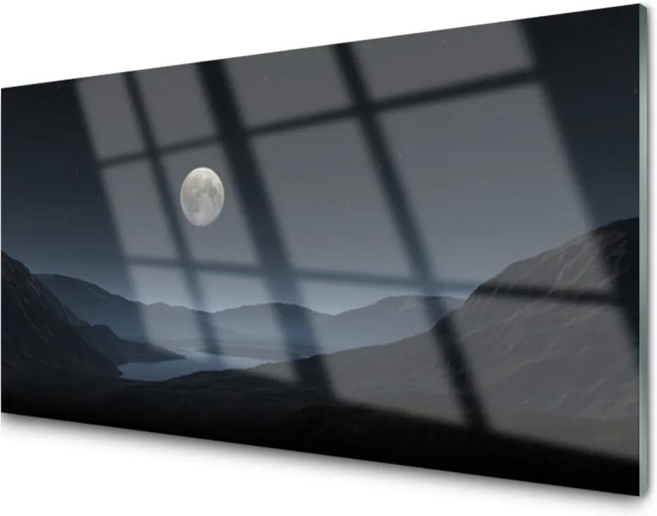 Akrylové obraz Noc měsíc krajina