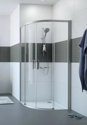 Sprchové dvere Huppe dvojkrídlové 110 cm, sklo číre, chróm profil, univerzálny C25504.069.322
