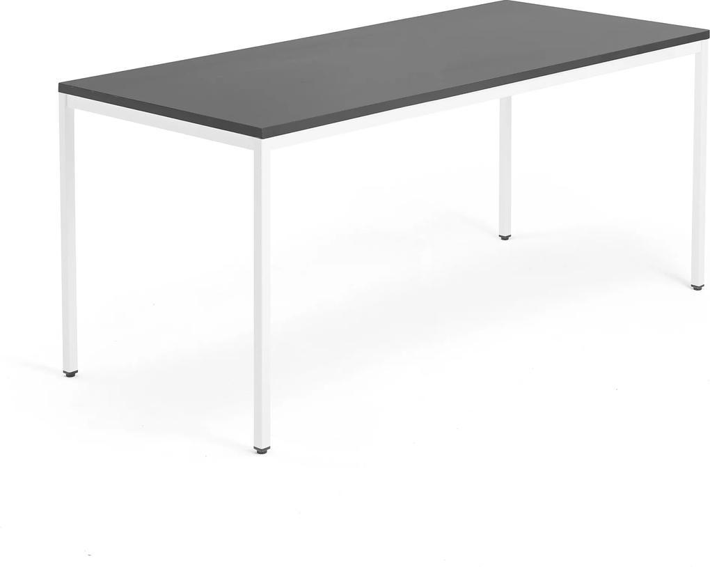Kancelársky pracovný stôl Modulus, 1800x800 mm, čierna/biela