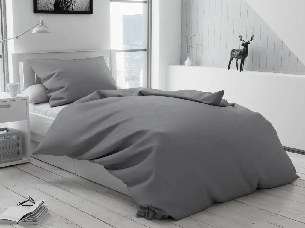 Písecké Lůžkoviny Krepové obliečky LUX sivé gombíky Rozmer obliečok: 70x90 cm, 140x220 cm