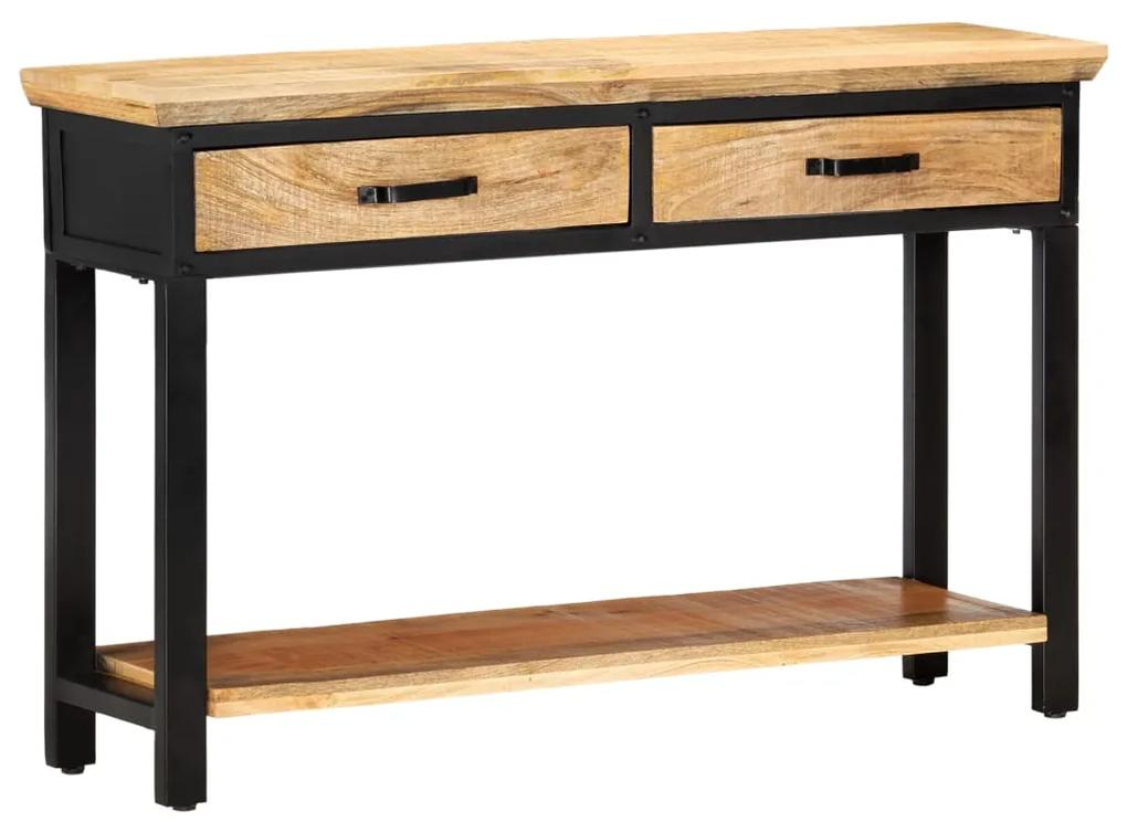 vidaXL Konzolový stolík 120x30x76 cm masívne mangovníkové drevo