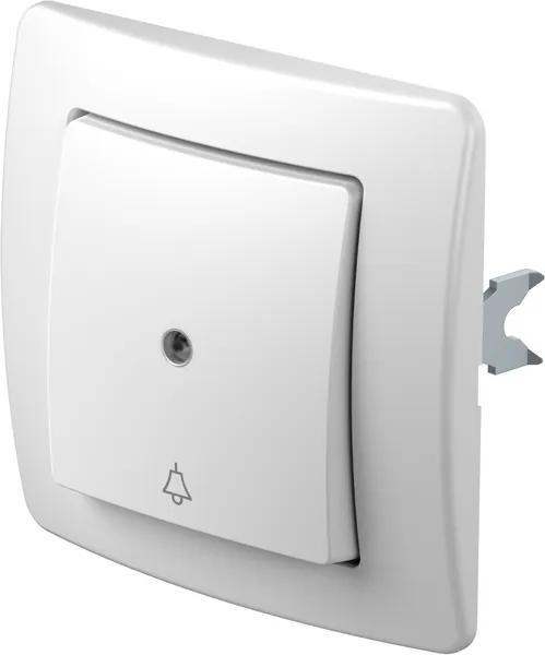 SE11 | Tlačidlo jednopólové s indikátorom zvonec Farba: Polárna biela