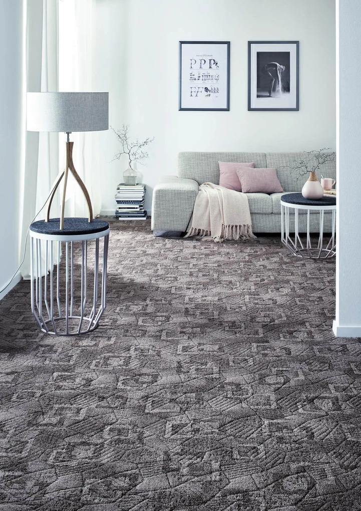 Metrážny koberec BOSSANOVA sivý - 400 cm