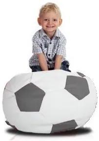 Sedací vak malá bielosivá futbalová lopta