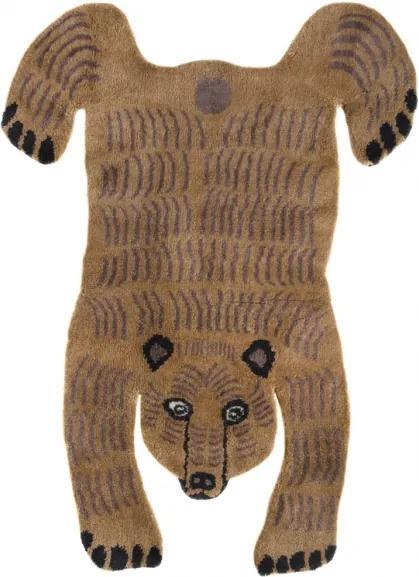 Koberec Bear, hnedý / luxusná vlna, Rozmery  140x200 cm Mum's