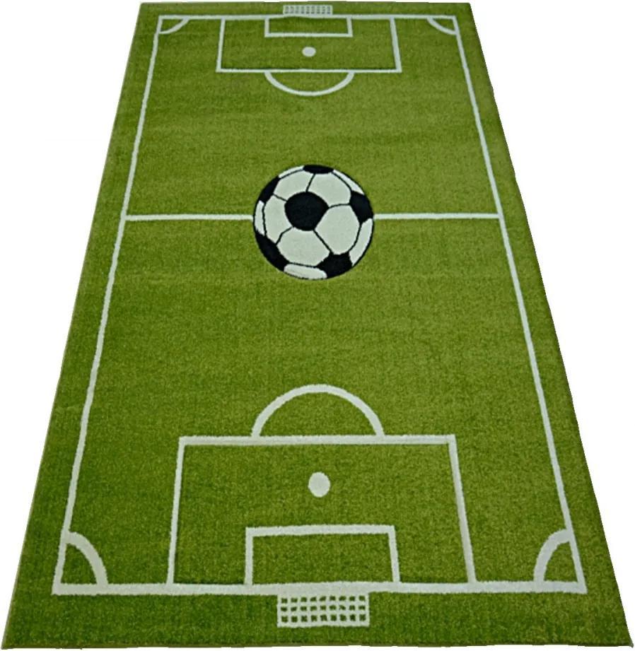 Detský kusový koberec Futbalové ihrisko zelený, Velikosti 80x150cm