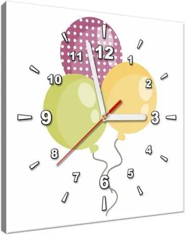 Obraz s hodinami Farebné balóny 30x30cm ZP4087A_1AI