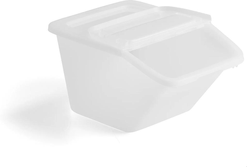 Úložný box, 34 L, biely