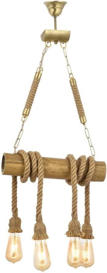 Závesné svietidlo z hrabového dreva Bambu