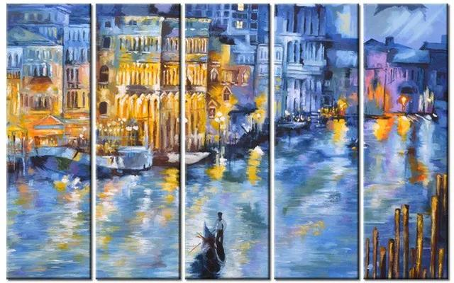 Tlačený obraz Nočné Benátky 100x63cm 3537A_5E