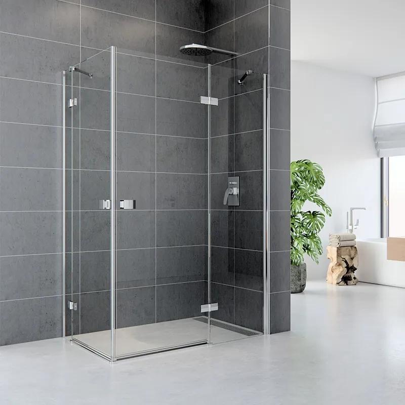 MAXMAX Sprchovací kút, Fantasy, obdĺžnik, 100x90 cm, chróm ALU, sklo Číre