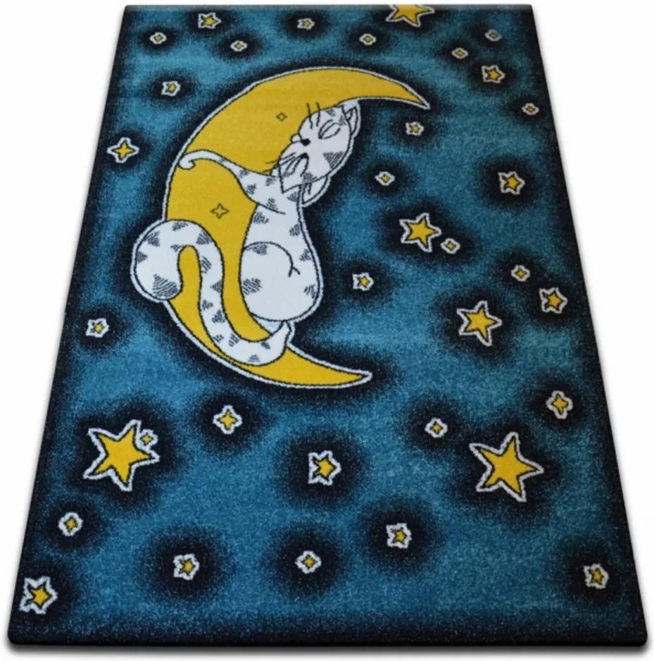 Detský kusový koberec Nočná obloha modrý, Velikosti 240x330cm