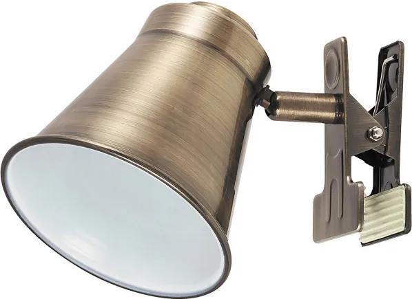Rábalux 6520 Stolné Lampy na Čítanie bronz antický bronz E27 1X MAX 15W 17 x 14,5 x 6 cm