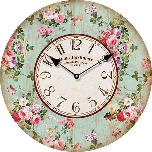 Isabelle Rose Drevené nástenné hodiny Belle Jardin 15 cm