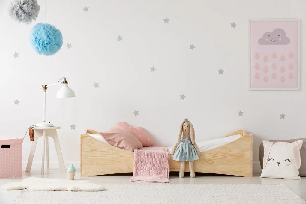 MAXMAX Detská posteľ z masívu BOX model 3 - 140x70 cm 140x70 pre dievča|pre chlapca|pre všetkých NIE