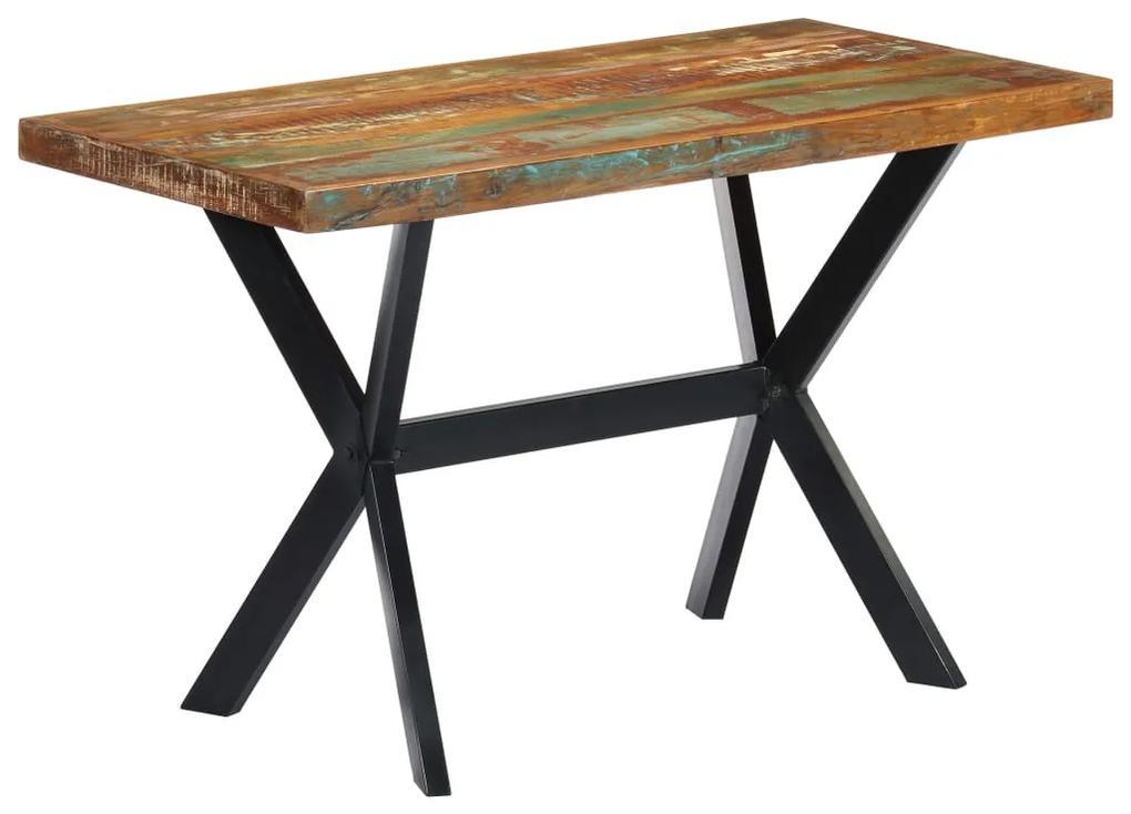 vidaXL Jedálenský stôl 120x60x75 cm, recyklovaný masív